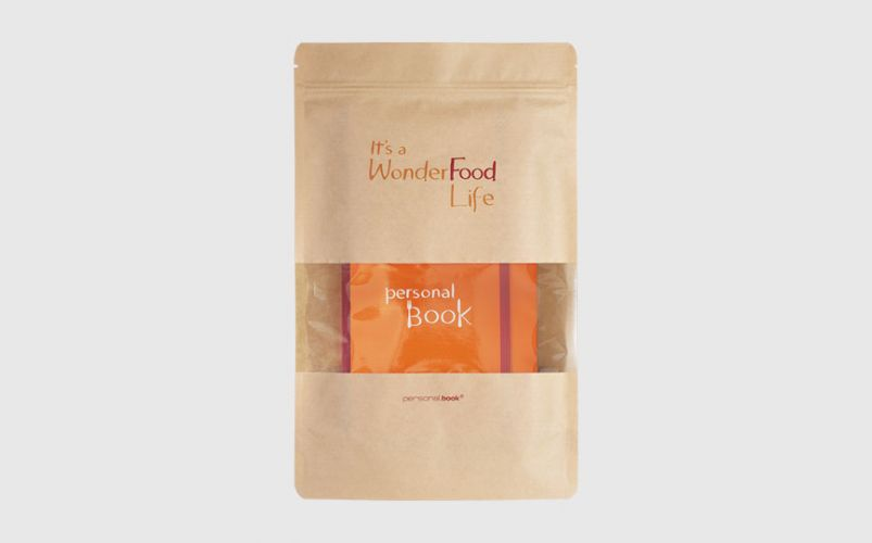personalbook food nel sacchetto